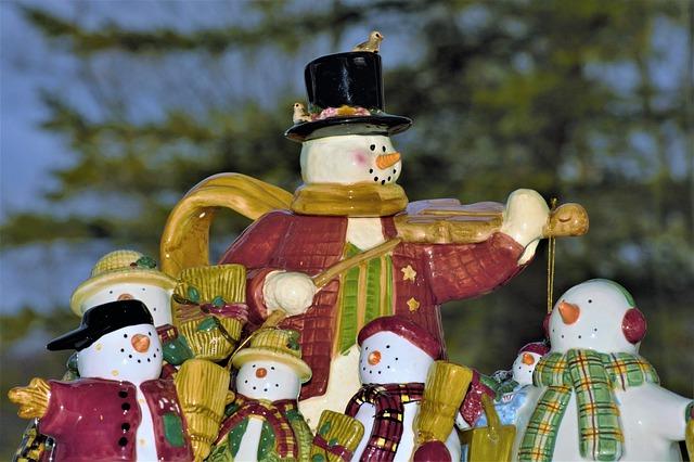 Christmas painted miniature art