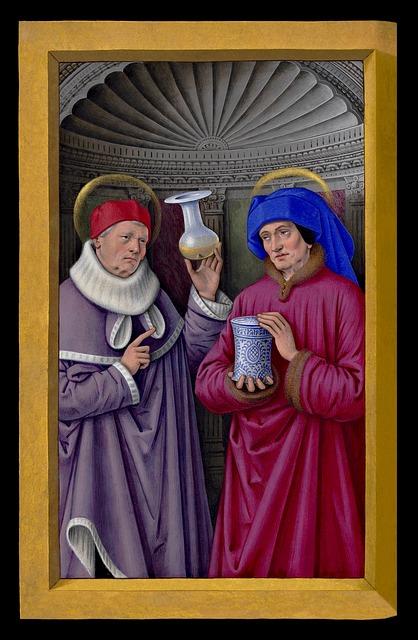 Saints miniature painting