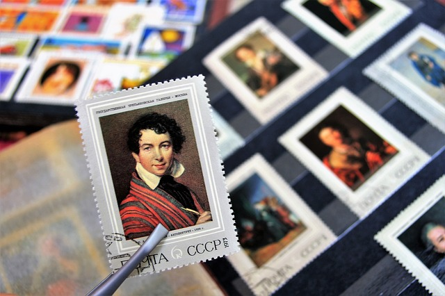 Postage stamp miniature art