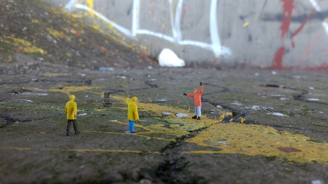 Construction miniature painting